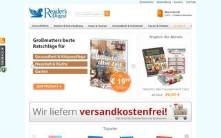 Reader's Digest Webseiten Screenshot