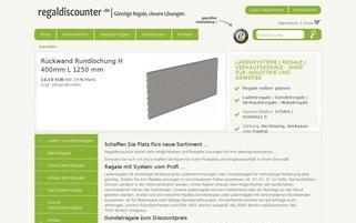 Regaldiscounter Webseiten Screenshot