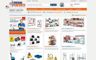 Regalexperte Webseiten Screenshot