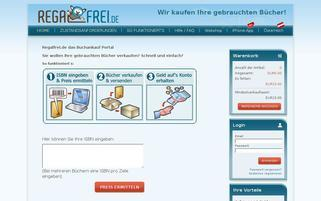 Regalfrei Webseiten Screenshot