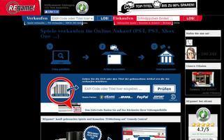REgame Webseiten Screenshot