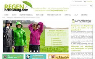 regenbekleidung.com Webseiten Screenshot