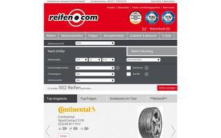 Reifen.com Webseiten Screenshot