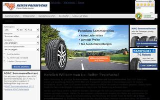 Reifen Preisfuchs Webseiten Screenshot