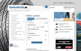 Reifendirekt.at Webseiten Screenshot