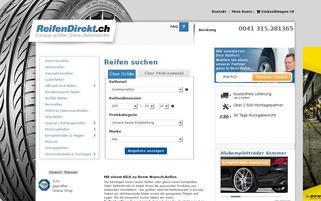 ReifenDirekt.ch Webseiten Screenshot