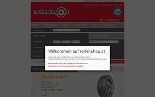 Reifenshop.at Webseiten Screenshot