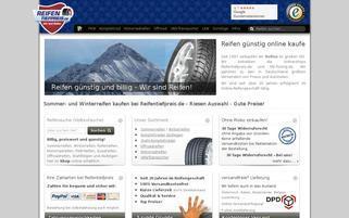 Reifentiefpreis.de Webseiten Screenshot