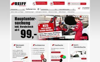 Reiff Reifen Webseiten Screenshot