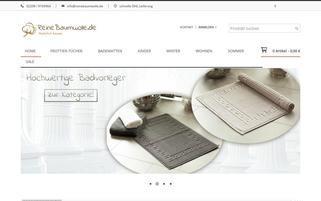 reinebaumwolle.de Webseiten Screenshot