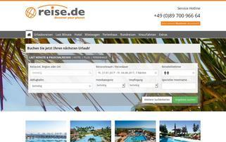 reise.de Webseiten Screenshot
