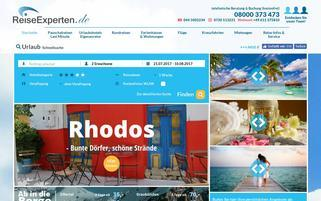 ReiseExperten Webseiten Screenshot