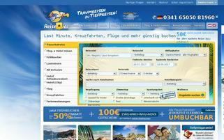 Reisegeier Webseiten Screenshot