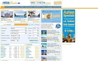 Reiselinie Webseiten Screenshot