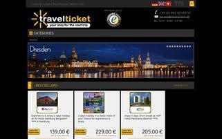 Reiseschein Webseiten Screenshot