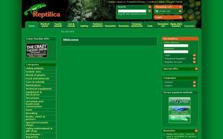 Reptilica Webseiten Screenshot
