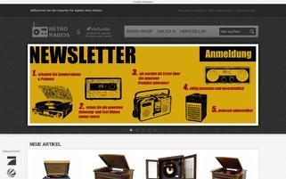 Retro Radios Webseiten Screenshot