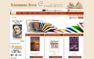 Rheinberg-Buch Webseiten Screenshot
