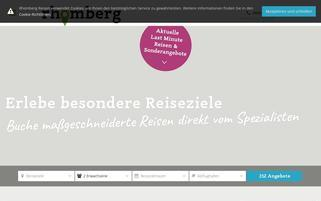 Rhomberg Reisen Webseiten Screenshot