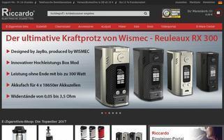 riccardo-zigarette.de Webseiten Screenshot