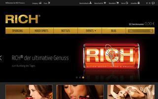 RICH Prosecco Webseiten Screenshot