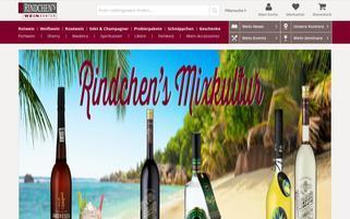 Rindchens Weinkontor Webseiten Screenshot