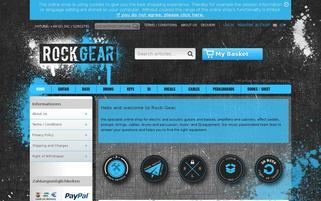 Rock-Gear Webseiten Screenshot