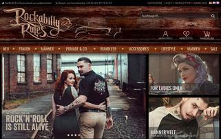 Rockabilly Rules Webseiten Screenshot