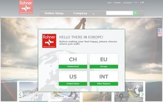 Rohner Socks Webseiten Screenshot