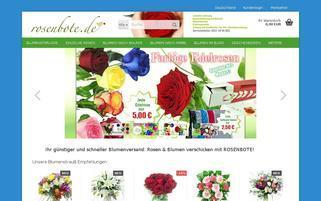 rosenbote.de Webseiten Screenshot