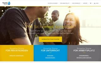 Rosetta Stone Webseiten Screenshot