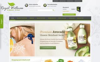 Royal Wellness Webseiten Screenshot