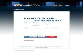 RTL Surfstick Webseiten Screenshot