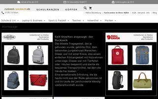 Rucksack Spezialist Webseiten Screenshot