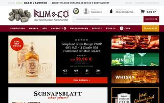 Rum&Co Webseiten Screenshot