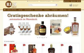 RUM Company Webseiten Screenshot