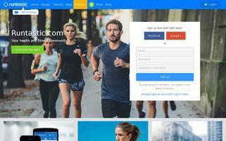 Runtastic Webseiten Screenshot