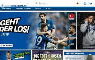 S04 Shop Webseiten Screenshot
