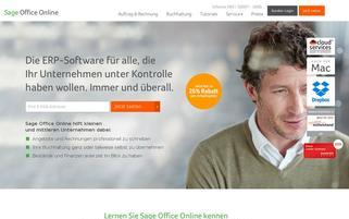 Sage Office Online Webseiten Screenshot