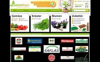 samenhaus.de Webseiten Screenshot