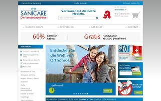 SANICARE Webseiten Screenshot