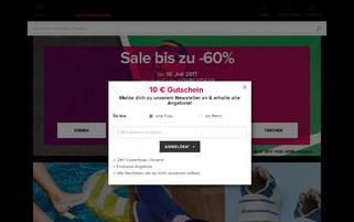 Sarenza Webseiten Screenshot
