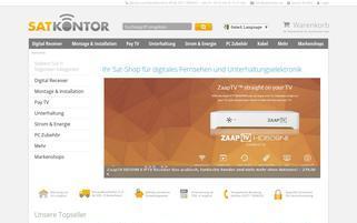 Satkontor Webseiten Screenshot
