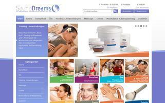 Saunadreams Webseiten Screenshot