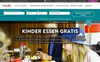 Scandic Webseiten Screenshot