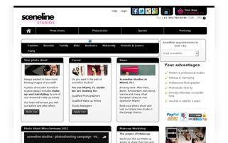 Sceneline Studios Webseiten Screenshot