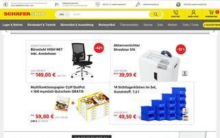 Schäfer Shop Webseiten Screenshot