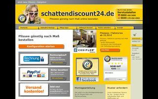 Schatten Discount 24 Webseiten Screenshot