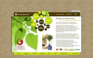 SchenkeinBäumchen Webseiten Screenshot