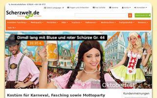 Scherzwelt Webseiten Screenshot